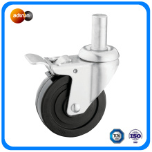 Round Stem Rubber Wheel Industrial Caster