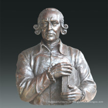 Große Figur Statue Philosophen Adam Smith Bronze Skulptur Tpls-080