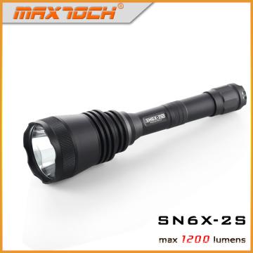 Maxtoch SN6X-2S caça de longo alcance Flashligt 2 * 18650 bateria lanterna LED luz