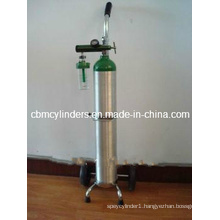 Chrome Plated Oxygen Cart for Aluminum Cylinders