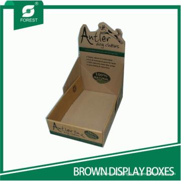 Boîtes d'affichage ondulées personnalisées Boîtes d'affichage PDQ ondulées
