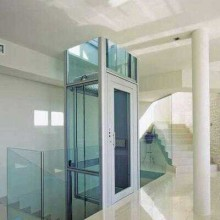 Machine Roomless Home Elevator with Glass Cabin