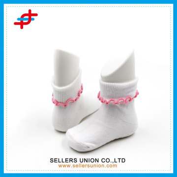 Baby lace plain white socks cuff soft touch socks