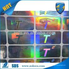 Autocollant d'étiquette de mode / autocollant d'hologramme / papier autocollant pour vente chaude en Chine