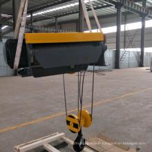 Grue électrique de câble métallique montée par pied de 20 tonnes du fil coulissant