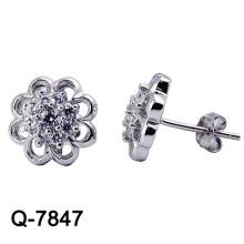 Jóias de prata dos brincos da forma do projeto 925 novos (Q-7847. JPG)