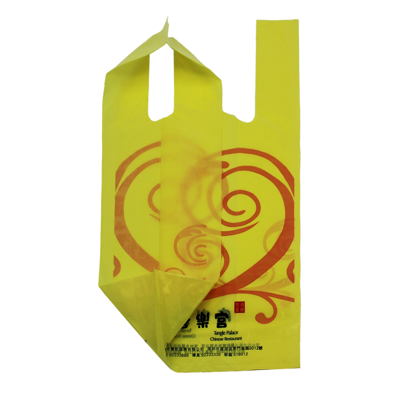 Vest Delivery Handle Bag Plastic