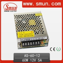 60W 12VDC 5A Switching Power Supply Tamanho pequeno com 111 * 78 * 36mm