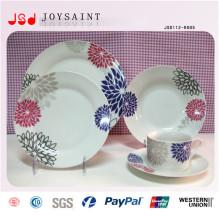 De Buena Calidad Placas de cena de plástico blanco barato para el restaurante