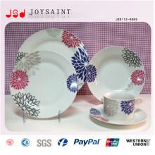 Белые пластиковые обеденные тарелки хорошего качества для ресторана