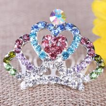 Mini tiara pente cristal coroa pentes