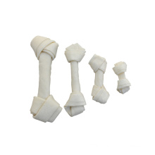 Expanded white rawhide knotted bones Rawhide & Porkhide dog chews for dog