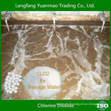 Poudre de dioxyde de chlore au prix le plus bas pour le traitement de l'eau d'égout