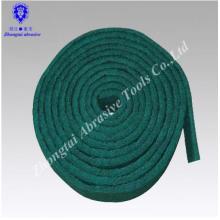 almofada de limpeza não tecida verde do rolo abrasivo da limpeza