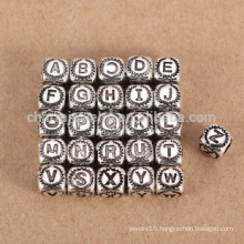 sef085 DIY jewelry findings Wholesale 925 sterling silver 26 letter bead charm big hole for bracelet/necklace