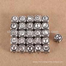 Sef085 DIY заключения ювелирных изделий Оптовая продажа стерлинговый серебр 925 26 письмо шарма шарика большое отверстие для браслета / ожерелья