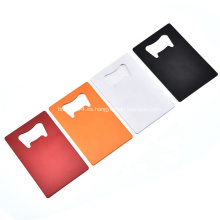 Abrebotellas de metal en blanco personalizado para tarjetas de crédito