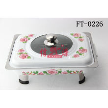 Stainless Steel Applique Visible Chafing Dish (FT-0226)