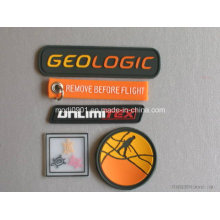 Silicone Soft Silicone PVC Rubber Patch with Hook & Loop Backing