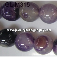 Round agate bead-dark purple