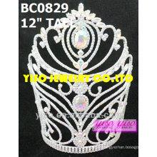 Tiara de cristal de encargo del concurso de belleza