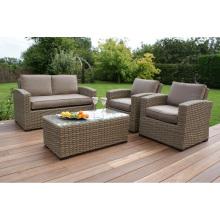 Patio Outdoor Wicker Sofa Lounge Set Garden Rattan Furniture