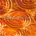 Orange Color Ribbon Embroidery Fabric