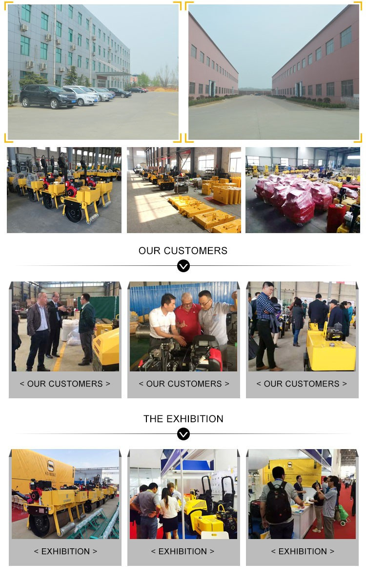 800KG ride on gasoline engine road roller factory