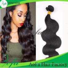 Extensão do cabelo do Virgin de Remy do cabelo humano do Weave da qualidade superior da categoria 7A