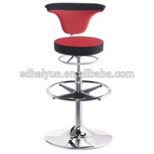 2017 nice quality red fabric round seat swivel barstool comfortable high bar chair