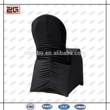 Fabricado en poliéster negro Universal Spandex Custom Chair Cover