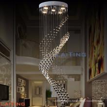 Elegante diseño de gota de lluvia de cristal moderno hotel de araña redonda grandes arañas de cristal por encargo LT-92049
