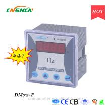 DM72-F 72 * 72mm prix compétitif Affichage LED monomètre numérique monophasé, mesure fréquence CA