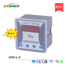DM72-F 72 * 72mm preço competitivo display LED medidor de freqüência digital monofásico, medida freqüência CA