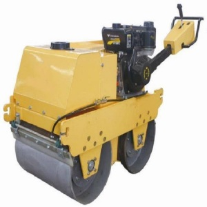 ที่มีชื่อเสียง Walk - behind Double Drum Vibratory Road Roller
