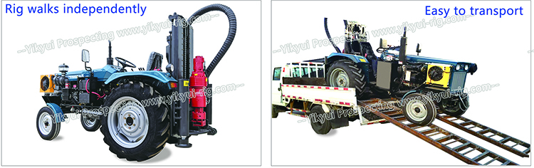 200s 200m tractor water well drilling rig walks independently and easy to transport