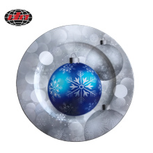 Christmas Decoration Plastic Plate with Printing