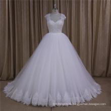Últimos vestidos de novia de manga larga simple