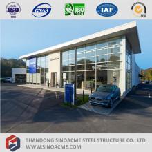 Metal Frame Structure Car Dealers Shop