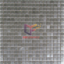 15*15 Silver Color Grind Face Stainless Steel Mosaic (CFM866)