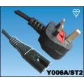 UK Netz führen acht Typ umspritzte Stecker ausgestattet 3 5 Ampere-Sicherung