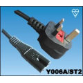 UK cable de ocho tipo moldeado enchufe cabido 3 5 fusible