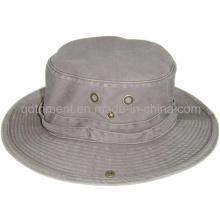 Cepillado pigmento teñido de sarga de algodón pesca de ocio cuchara Hat (TMBH0001-1)