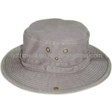 Brushed Pigment Dyed Cotton Twill Leisure Fishing Bucket Hat (TMBH0001-1)