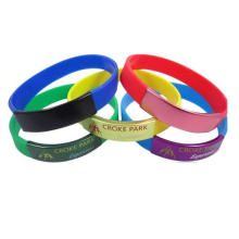 Wholesale Cheap Silicone Metal Lock Wristband and Bracelet