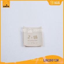 Hochwertiges Kleidungsstück gewebt Etikett LW20012