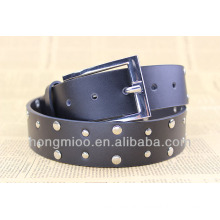 Black color metal fashion plate belt for cool boys and girls