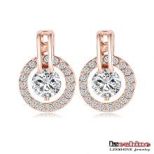 Boucles d'oreille en cristal de mariage en cristal tchèque pour femmes (ER0056)