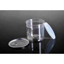 Haustier Plastik Easy-Open Lebensmittel Verpackung Dose mit Kunststoff Cap (PPC-CSRN-028)
