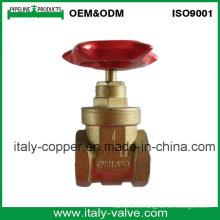 Válvula de puerta forjada de cobre amarillo del tipo de Italia del OEM (AV4057)